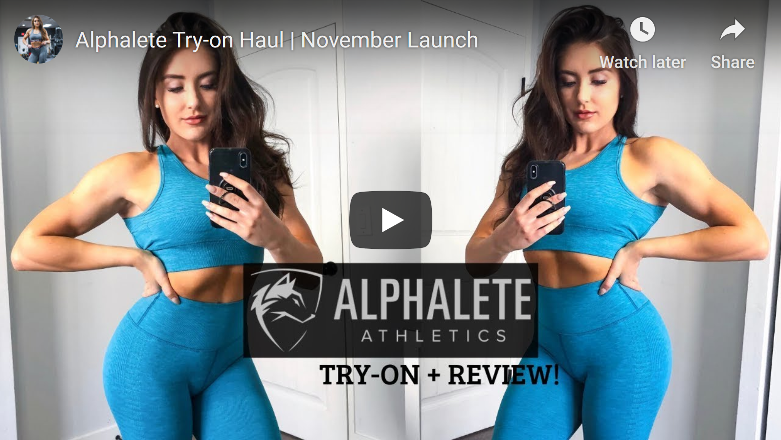 Alphalete Try On Review by Brooklyn